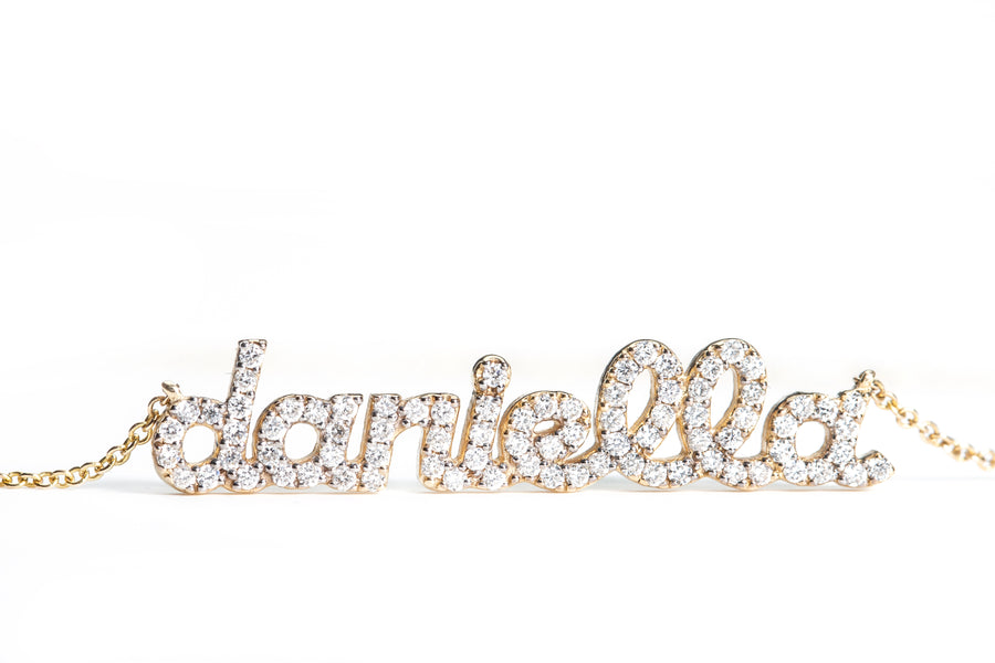 Diamond Name Necklace - 8 Letters