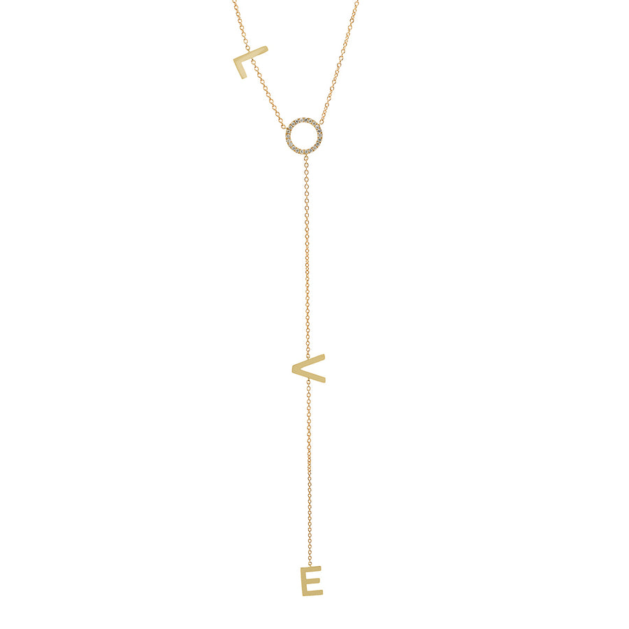 Love Long Diamond Lariat Necklace