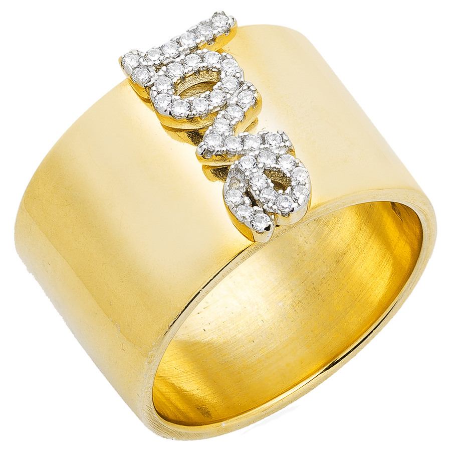 Diamond Love Cigar Ring