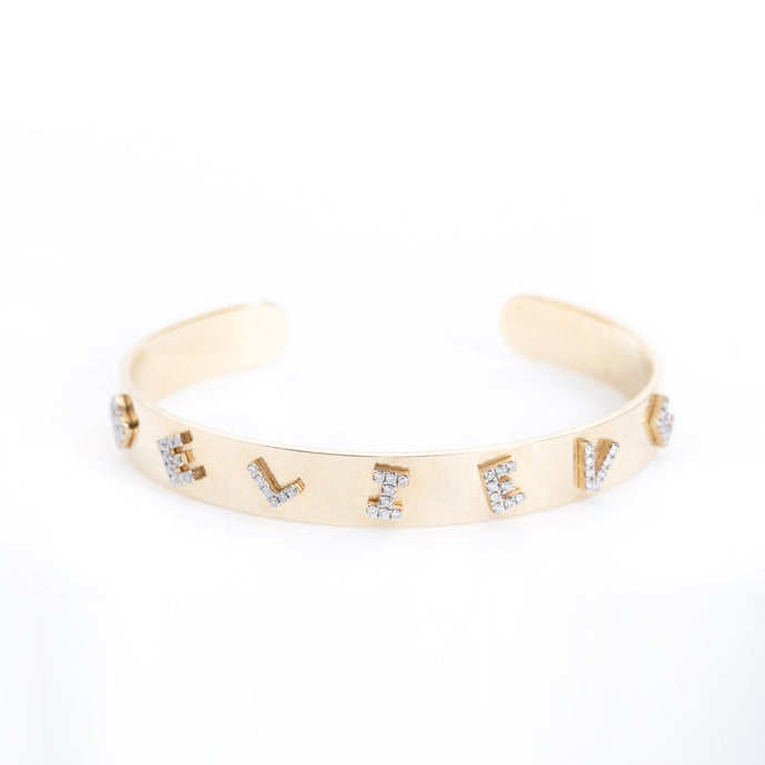 Believe Diamond Cuff