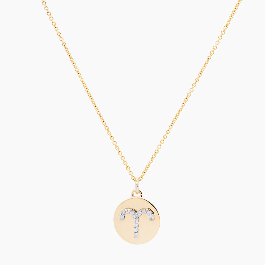 Aries Gold and Diamonds Pendant