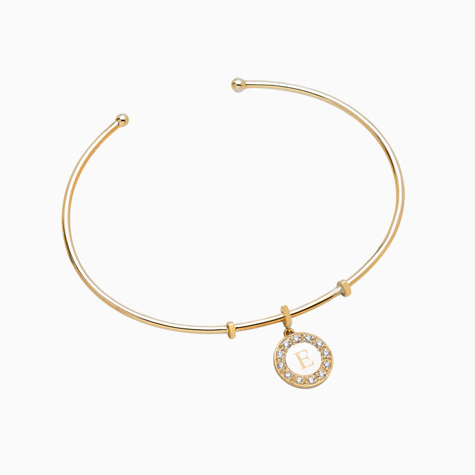 Diamond Initial Bangle