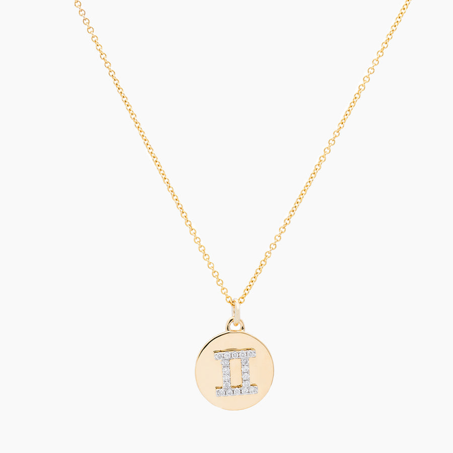 Gemini Gold and Diamonds Pendant
