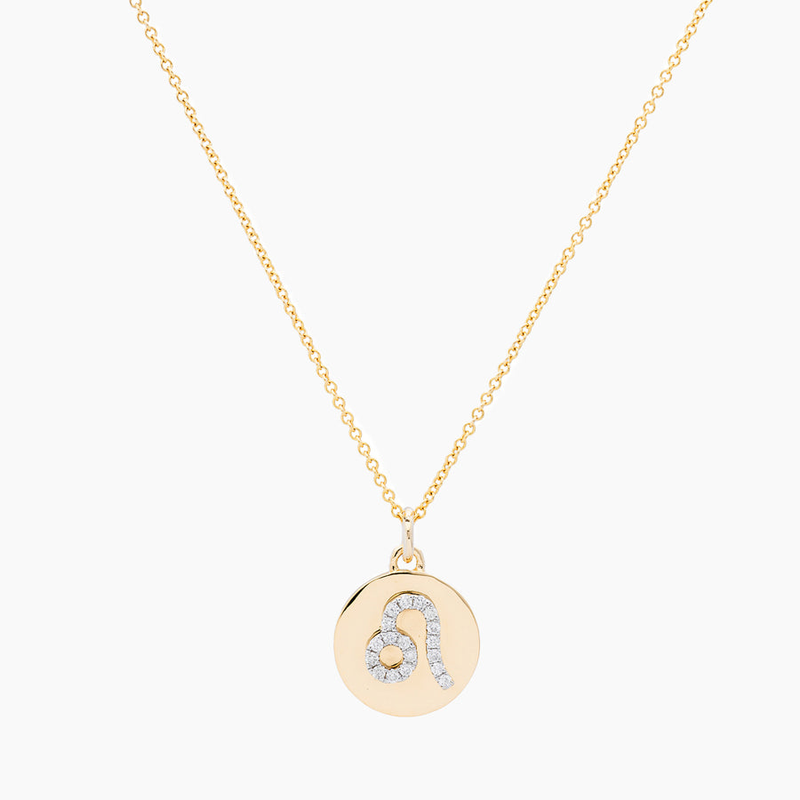 Leo Gold and Diamonds Pendant