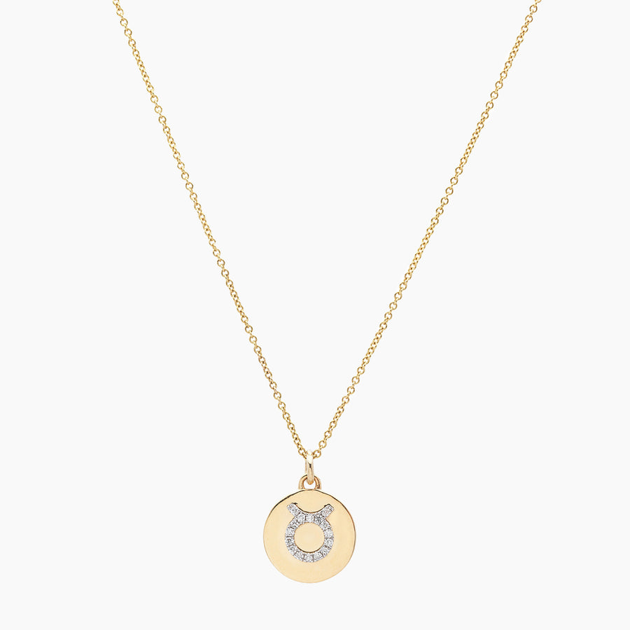 Taurus Gold and Diamonds Pendant