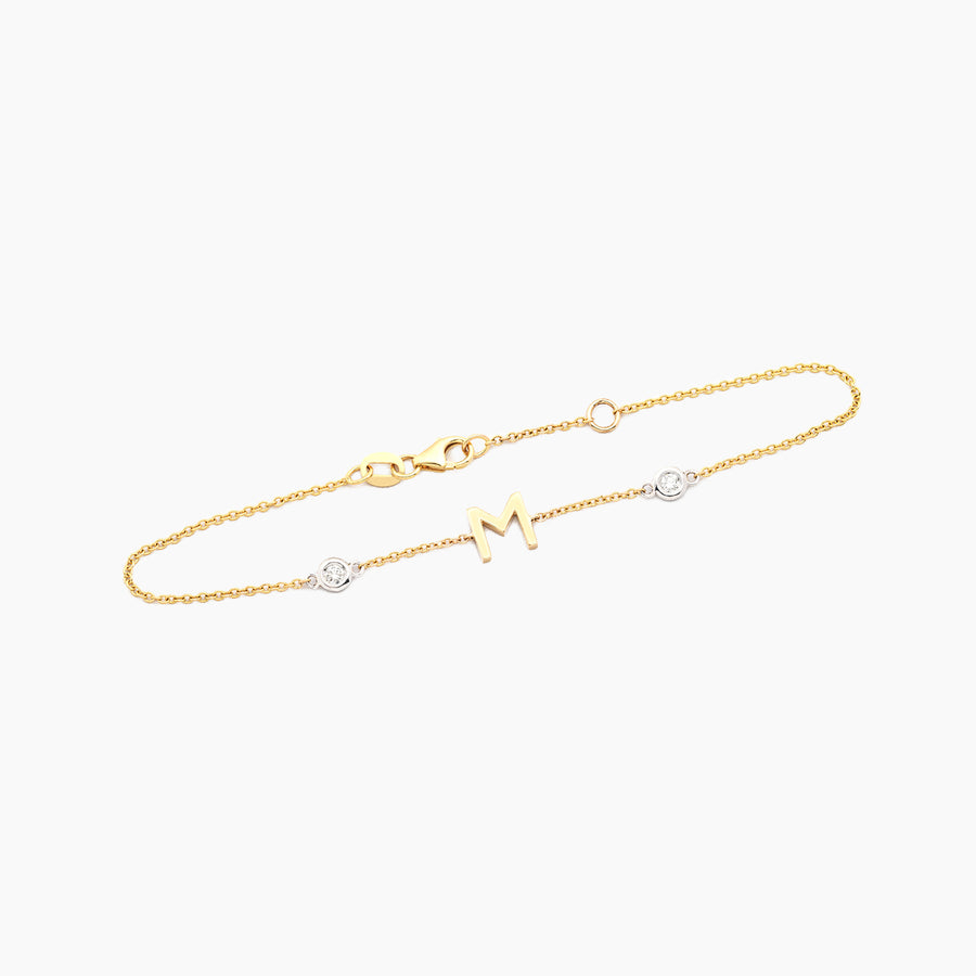 Single Diamond Initial Bracelet