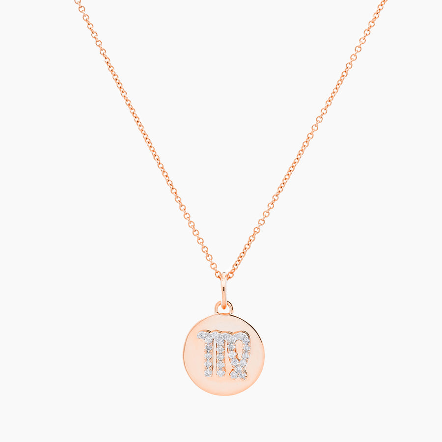 Virgo Gold and Diamonds Pendant