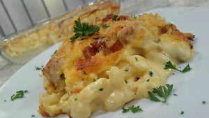 Mac and cheese al horno