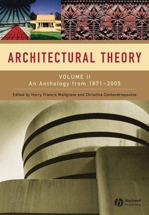 Architectural Theory Volume II