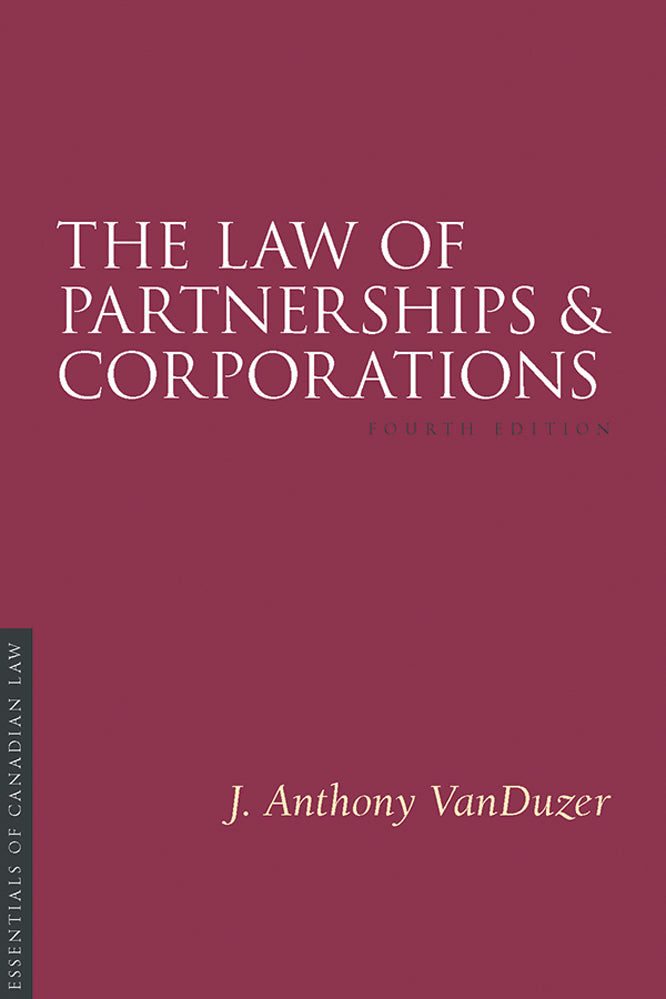 Law of Partnerships and Corporations