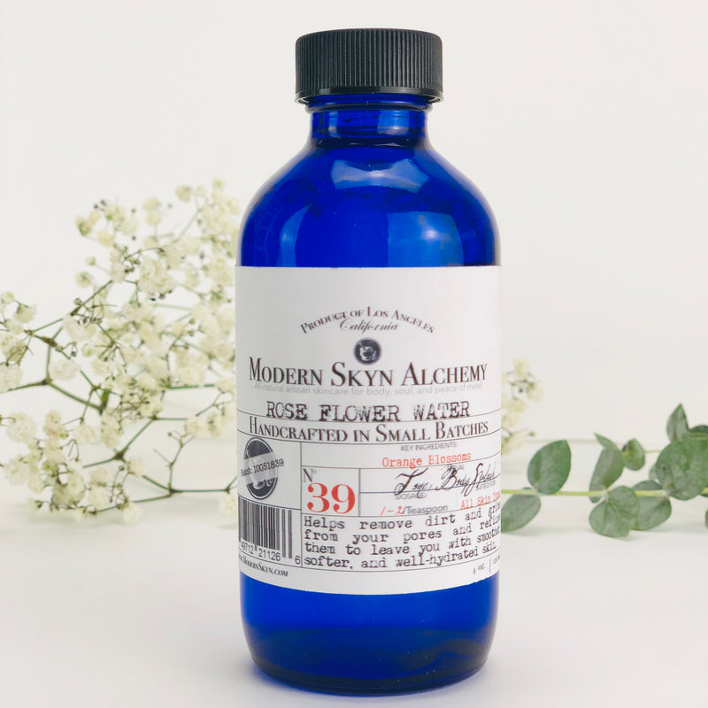 ROSE FLOWER WATER - MODERN SKYN ALCHEMY HANDCRAFTED SKINCARE