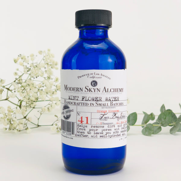MINT FLOWER WATER - MODERN SKYN ALCHEMY HANDCRAFTED SKINCARE