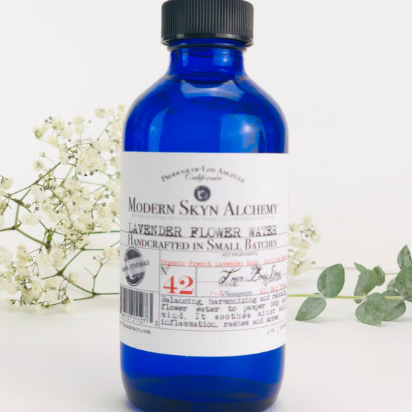 LAVENDER FLOWER WATER - MODERN SKYN ALCHEMY HANDCRAFTED SKINCARE