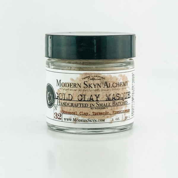GOLD CLAY MASQUE - MODERN SKYN ALCHEMY HANDCRAFTED SKINCARE
