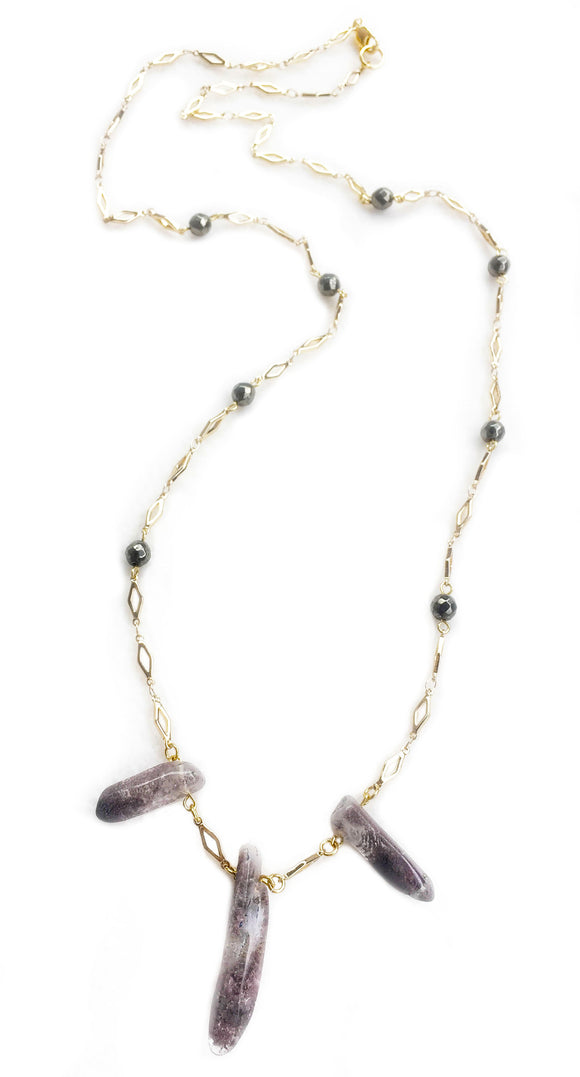 Garden Crystal Quartz Necklace