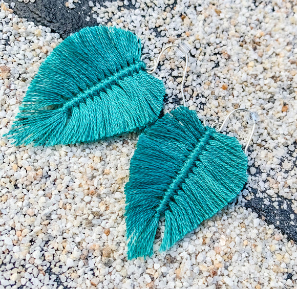 Leaf me in Bermuda-Teal
