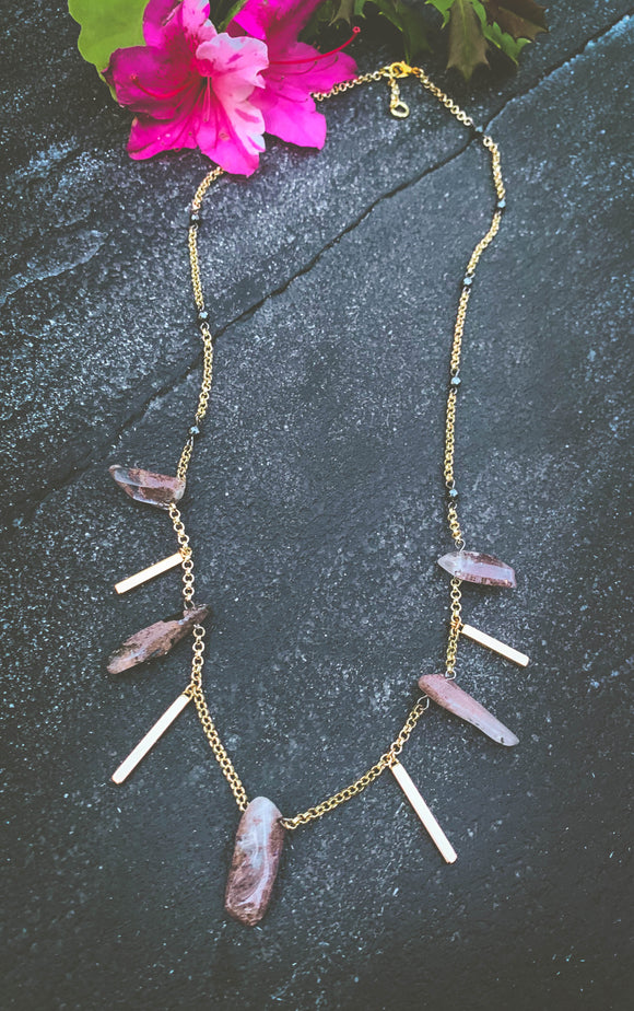 Garden Quartz Stick Necklace