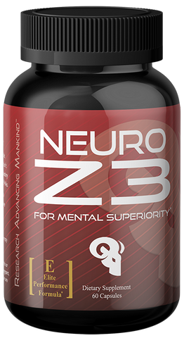NEURO Z3 nootropic which contains ALCAR, Alpha GPC, Tyrosine, Theanine, Huperzine A