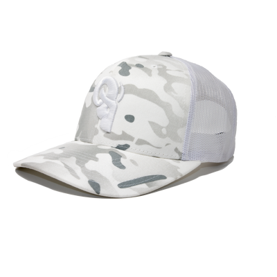 TOP SELLING TRUCKER HAT ARCTIC CAMO TRUKER RAM ADVANTAGE Trucker Hat | Mesh Two Tone Snapback Cap Premium Quality Durable Comfortable Fit.
