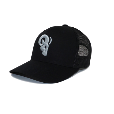 RAM Advantage® RAM ADVANTAGE premium SILVER AND BLACK 3D embroidered TRUCKER HAT