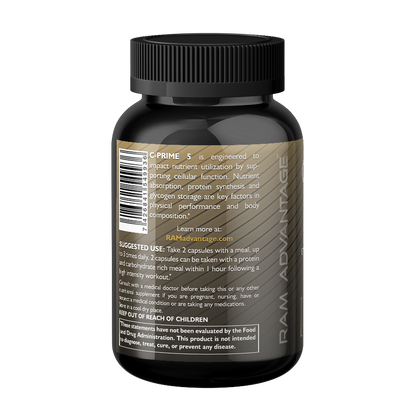 C-PRIME 5 is a nutrient partitioning agent designed to support healthy utilization of carbohydrates and amino acids. Ingredients: Alpha Lipoic Acid, Gymnema sylvestre, Bitter Melon, Cinnamon, Taurine