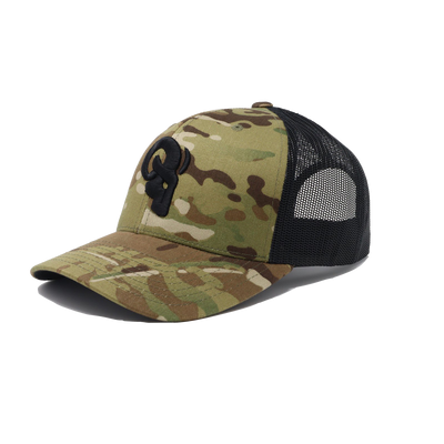 RAM ADVANTAGE TRUCKER / Snapback hat is the perfect for HUNTING FISHING BOATING POLICE MILITARY and FIREFIGHTERS