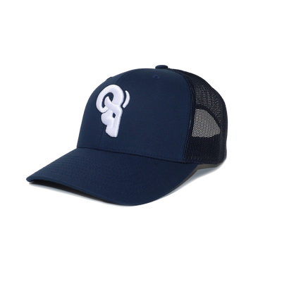 RAM Advantage® RAM ADVANTAGE premium NAVY and WHITE 3D embroidered TRUCKER HAT