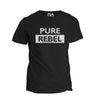 PURE REBEL ultra soft T-SHIRT This shirt is for those who grind with a rebellious spirit, a savage fierceness to make their dreams become a reality. To a PURE REBEL rules are simply a suggestion because nothing can cage their maverick spirit. We added a distressed texture to the design which represents the hard work, long hours and sacrifices required to live a life others can only talk about.