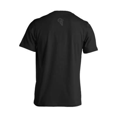 RA Logo T-Shirt RAM ADVANTAGE apparel Black on Black printed with CLEAR PLASTISOL for a PREMIUM LOOK AND FEEL.