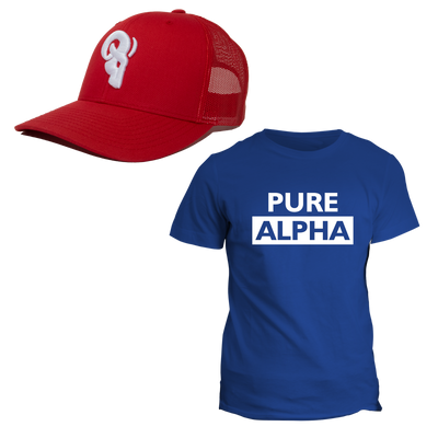 This bundle is for those rare souls who grind with a savage fierceness to make their dreams a reality. These individuals come in the form of ACHIEVERS, LEADERS, PROVIDERS, HELPERS & ATHLETES. In honor of these ALPHAs we made this AMERICAN bundle especially awesome! Get your PURE ALPHA and AMERICAN FLAG trucker hat today and CELEBRATE the 4th of JULY right!