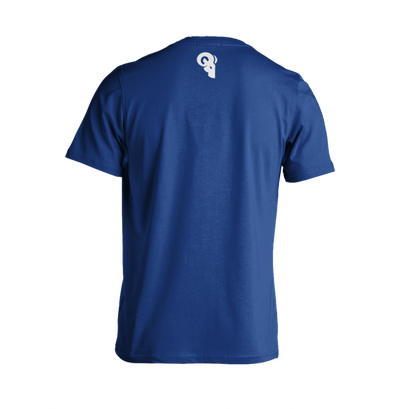 Royal Blue and White Logo T-Shirt