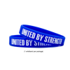 The UNITED BY STRENGTH campaign is designed to provide relief for families in need. Specifically, families struggling to secure nutritional meals. 100% of the proceeds from each wristband will be donated to Feeding America to provide meals for families, individuals and food banks nationwide.