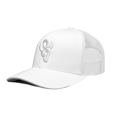 RAM ADVANTAGE premium WHITEOUT TRUCKER HAT perfect for GOLF or SUMMER activities