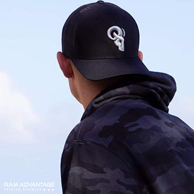 RAM ADVANTAGE rugged TRUCKER HAT designed in USA