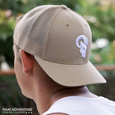 RAM ADVANTAGE snapback KHAKI SUMMER TRUCKER HAT