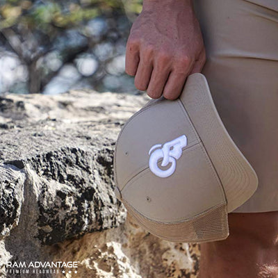 RAM ADVANTAGE snapback KHAKI sport and lifestyle TRUCKER HAT