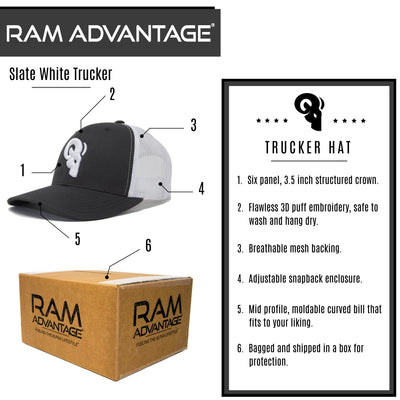 QUALITY, COMFORT & DURABILITY - All trucker hats are designed with an adjustable snapback to guarantee perfect fit on all men, women and children.