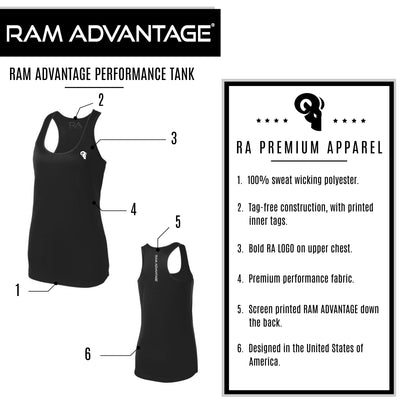 RAM ADVANTAGE WOMEN'S CROSS TRAINING SPORT TANK | BLACK