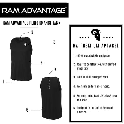 RAM ADVANTAGE Men's Cross Training Sport Tank | Black