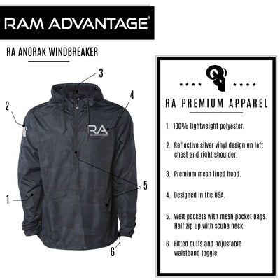 RA Anorak Windbreaker   Black Camo