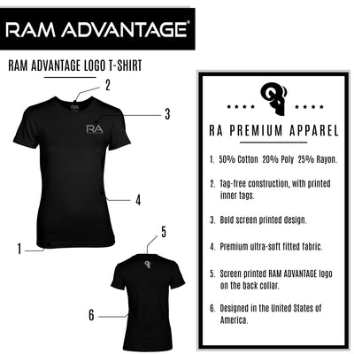 Women's RA Logo Tri-Blend T-Shirt Black/Silver