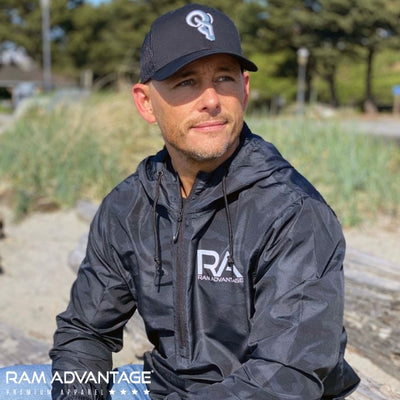 BRANDON DINOVI wearing BLACK CAMO ANORAK WATERPROOF WINDBREAKER are designed to be worn in all weather conditions. Rain, snow, sun, and wind are no match for these durable jackets. Plus with the highly reflective print you will feel safe even in low light conditions.