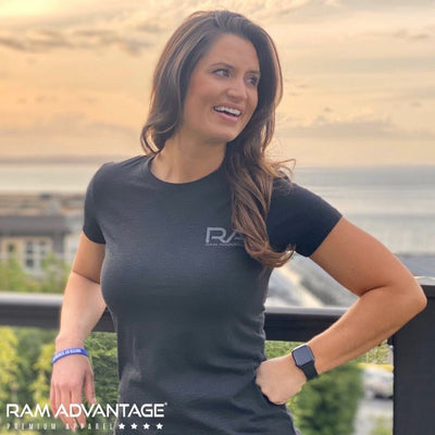SEXY BRUNETTE in a RAM ADVANTAGE SUMMER tri-blend t-shirt