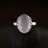 Luxury 925 Sterling Silver Natural Stone Ring
