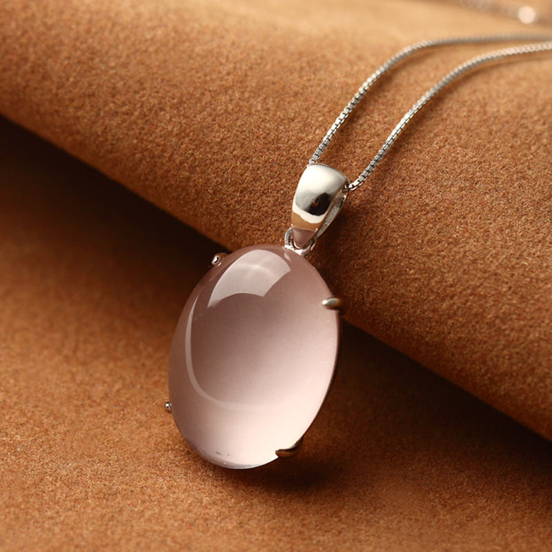 925 Sterling Silver Genuine Natural semi-precious stone pendant necklace