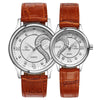 Ultrathin Leather Strap His and Hers wristwatch giftset. - bulk offers