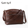 Cobbler Legend Multi Pockets Vintage Genuine Leather Shoulder Crossbody Bag
