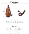 Cobbler Legend Men's Messenger Crossbody Leather Shoulder Bag - bulk offers