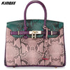 Birkin Style Leather Satchel with padlock. - bulk offers