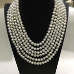 Fresh water pearl 8-9 mm multi layer luxurious necklace.